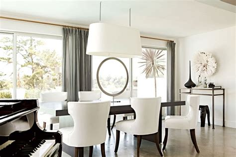 sophisticated and elegant white dining room design decoist