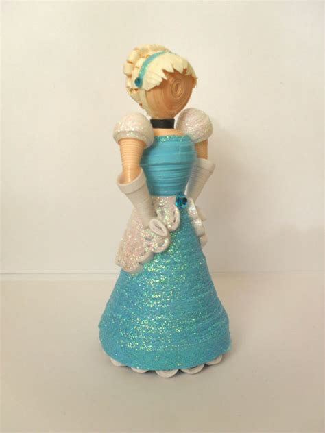paper quilling doll tutorial 3d paper quilled doll inspired by disney s cinderella