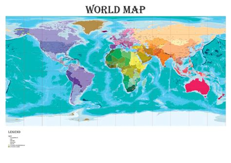 World Map 3 A0 indonesia chinamap 点力图库