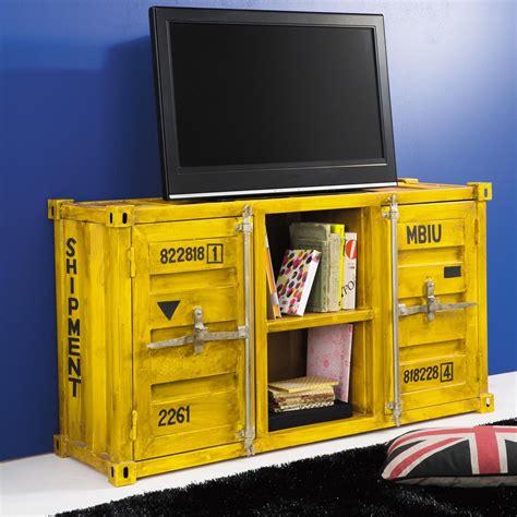 Meuble Container by Meuble Tv Container En M 233 Tal Jaune L 129 Cm