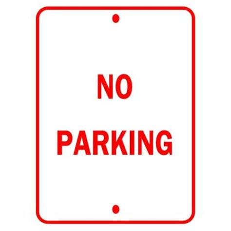 brady 18 in x 12 in aluminum no parking traffic sign