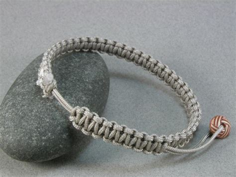 Macrame Square Knots - square knot macrame rope bracelet with zip whatknotshop