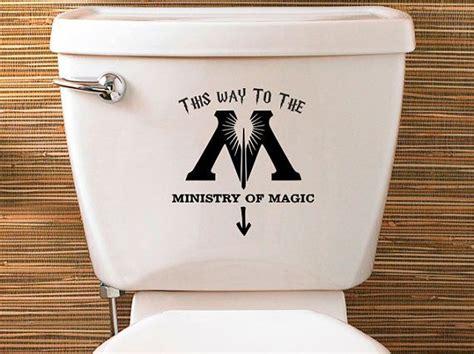 Wc Aufkleber Harry Potter harry potter inspiriert ministry of magic wc aufkleber