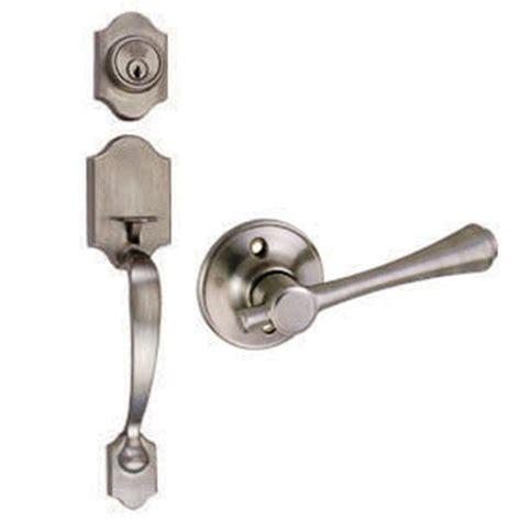 design house handlesets design house sussex satin nickel handleset with ironwood