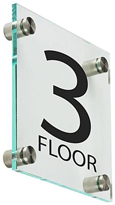 Floor Number Floor Number Signs Acrylic With Standoffs
