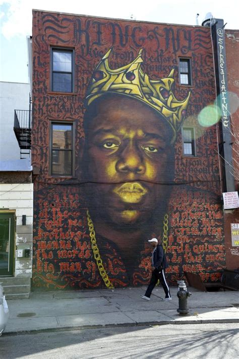 Big Wall Murals notorious b i g art to cover bed stuy gallery s walls