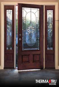 Therma Tru Classic Craft Mahogany Collection Fiberglass Exterior Doors Therma Tru