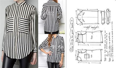 molde camisa dama patrones para hacer camisas casual para mujeres