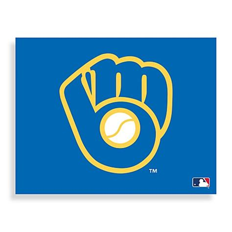 bed bath and beyond milwaukee mlb milwaukee brewers logo canvas wall art bed bath beyond