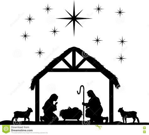 large printable nativity scene manger scene silhouette www imgkid com the image kid