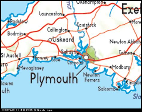 map of plymouth and surrounding areas map of plymouth uk map uk atlas