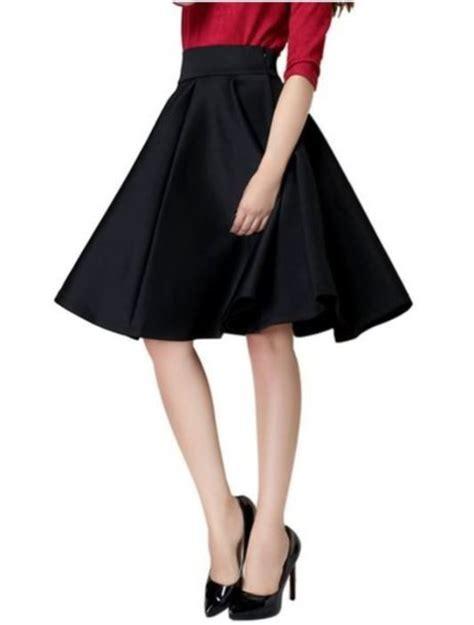 skirt black skirt plain black skirt high waist skirt