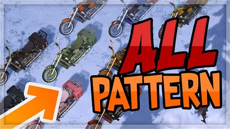 pattern chopper last day on earth toutes les textures du chopper last day on earth youtube