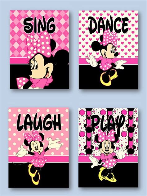 pink minnie mouse bedroom decor minnie mouse 5x7 prints girls room nursery pink for minnie