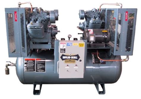 saylor beall x 745 120 3 phase duplex air compressor nhproequip