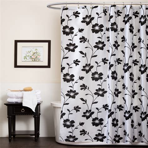 black white shower curtains black white shower curtain furniture ideas deltaangelgroup