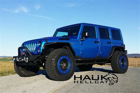jeep hellcat custom meet the 707 hp hauk hellcat jeep wrangler