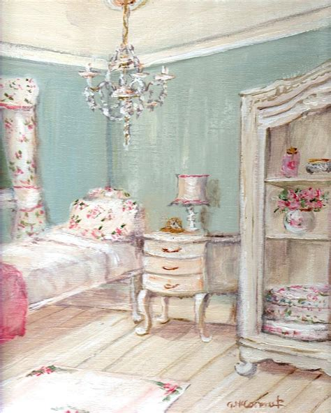 Modern Chic Bedroom Decorating Ideas by Shabby Chic Guest Room Painting By Gail Mccormack Modern