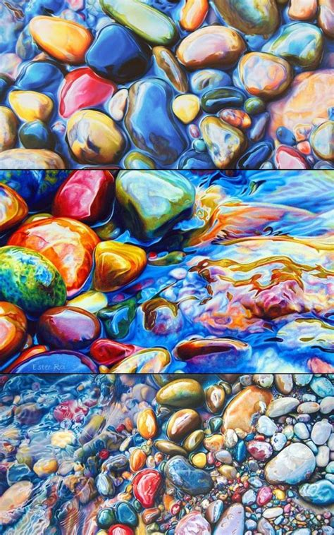 colored river rocks ester roi colored pencil drawings of river rocks amazing