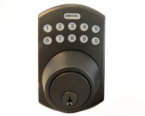 Wifi Bolt Lock lockstate remotelock ls 5i b deadbolt lock wifi enabled keyless entry locks keypad