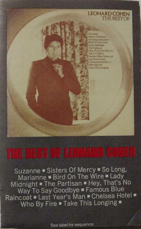 the best of leonard cohen leonard cohen the best of leonard cohen cassette at