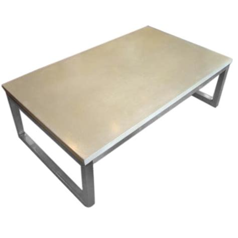 Concrete Coffee Table Top Concrete Top Coffee Table With Stainless Steel Base
