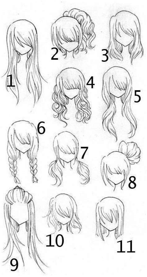 drawing different hairstyles anime different types of hairstyles and types of
