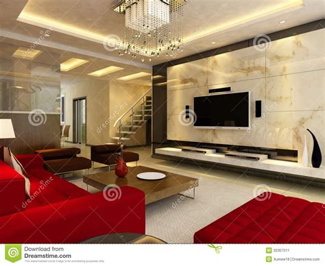 3d home interior home interior 3d rendering stock image image 32307011