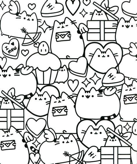 coloring pages of pusheen 17 best images about coloring pages on pinterest