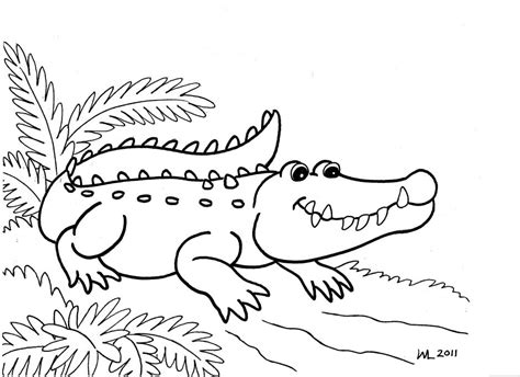 pages for crocodile coloring pages to print
