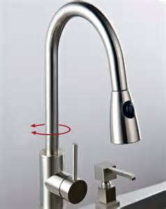 solid brass pull down kitchen faucet nickel brushed