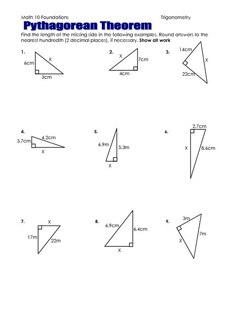 The Pythagorean Theorem Worksheet Answers by The Pythagorean Theorem Worksheet Answers Abitlikethis