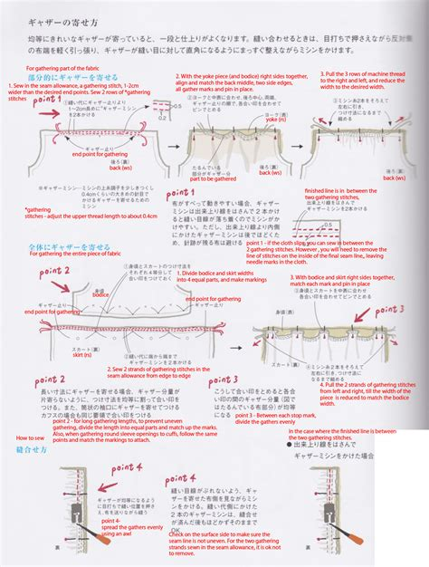 japanese pattern translation translation request how to sew gathers japanese sewing