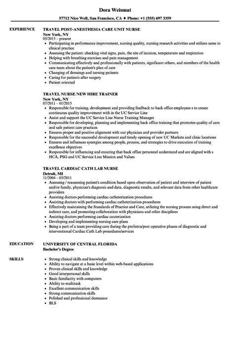 Nursing Resume Exles by Travel Resume Exles Sanitizeuv Sle Resume