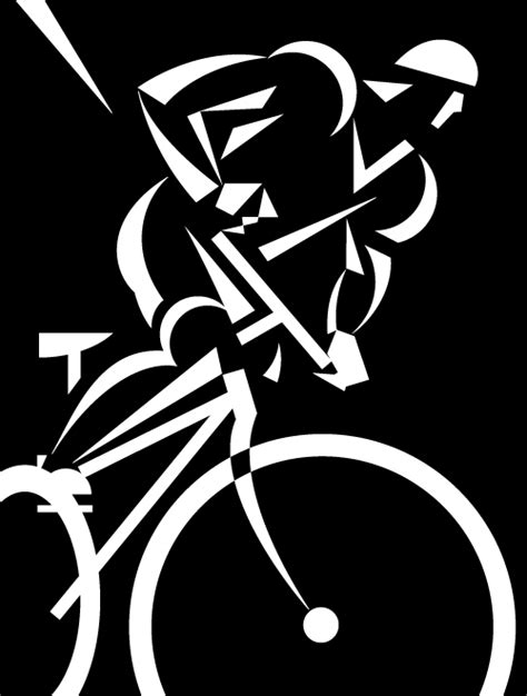 imagenes navideñas blanco y negro vectores ciclista en blanco y negro