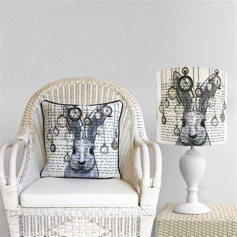 alice and wonderland home decor alice in wonderland white rabbit lshade by fabfunky