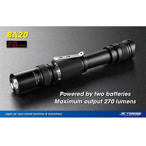 Senter Cree R5 jetbeam ba20 senter led cree xp g r5 270 lumens black