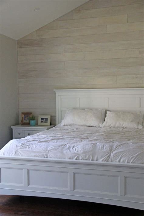 white wood wall bedroom walls shiplap paneled walls wood image result for white washed shiplap wall behind bed