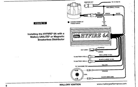 mallory comp 9000 distributor wiring diagram mallory