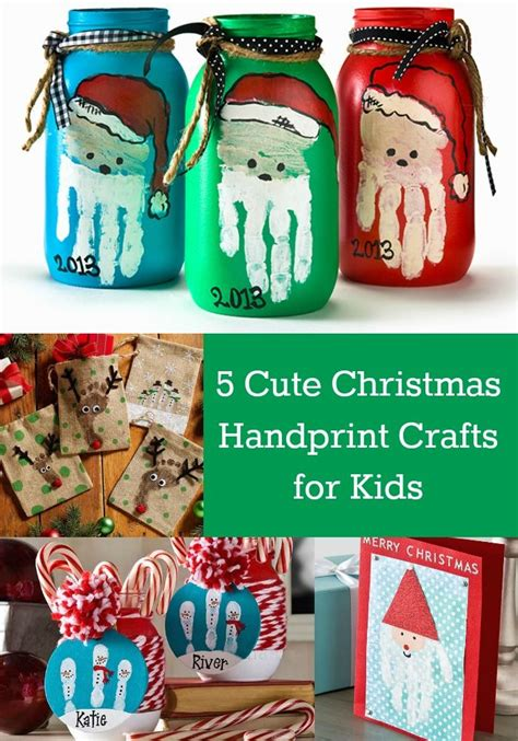 christmas crafts for elementary students 5 handprint crafts for things craft and holidays
