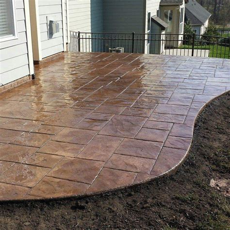 colored concrete patio sted concrete patios ideas home ideas collection