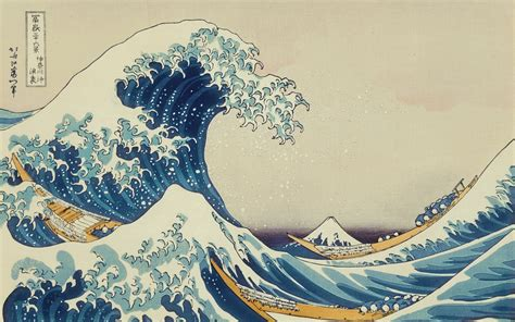 classic japanese wallpaper japanese the great wave off kanagawa painting waves