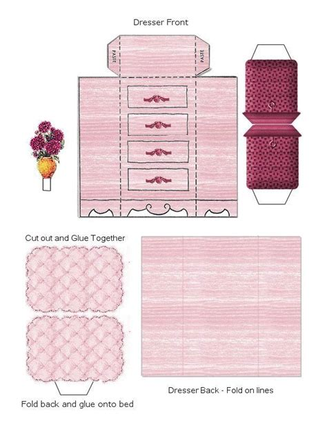 cardboard furniture templates 17 best images about 3d paper doll furniture toys