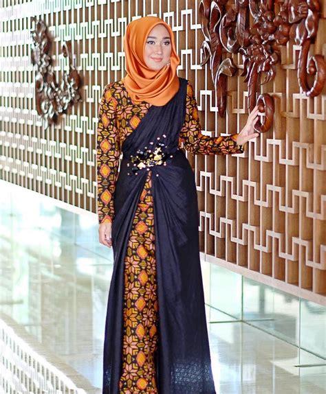 Gamis Remaja Kombinasi Batik 15 model gamis batik kombinasi satin terbaru 2018 gambar