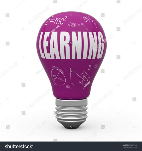 Learn Light by Learning Light Bulb Concept Stock Photo 114670144