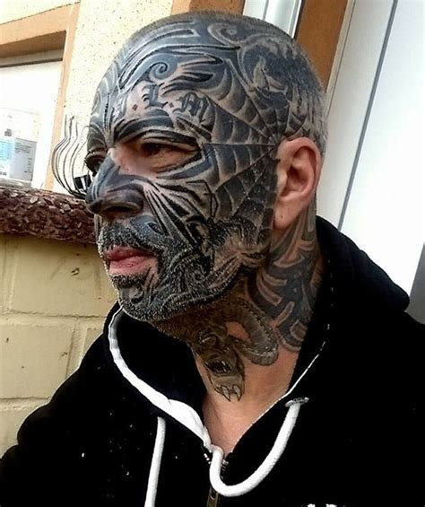 extreme tattoo man 23 best best face tattoos for women for men images on