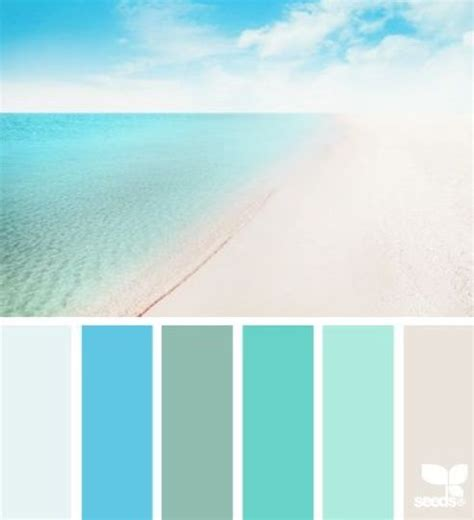 What Color Is Peaceful | beach house color palette peaceful beach color scheme