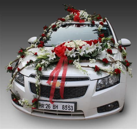 Wedding Car Flower Decoration by India Products Car Decorations Indian Gifts