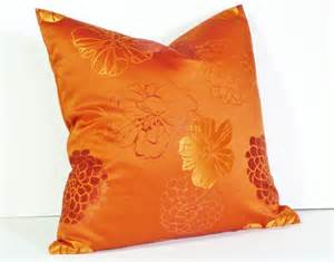 Orange Pillows For Sofa Orange Throw Pillow Decorative Pillows Bright By Pillowthrowdecor