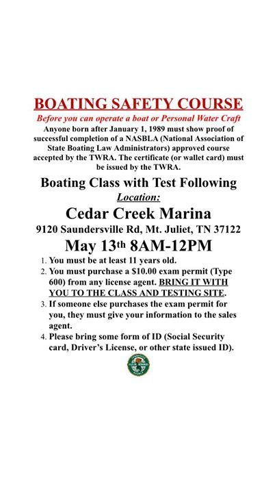 boating license test tn boating safety class may 13 chapelhilltn